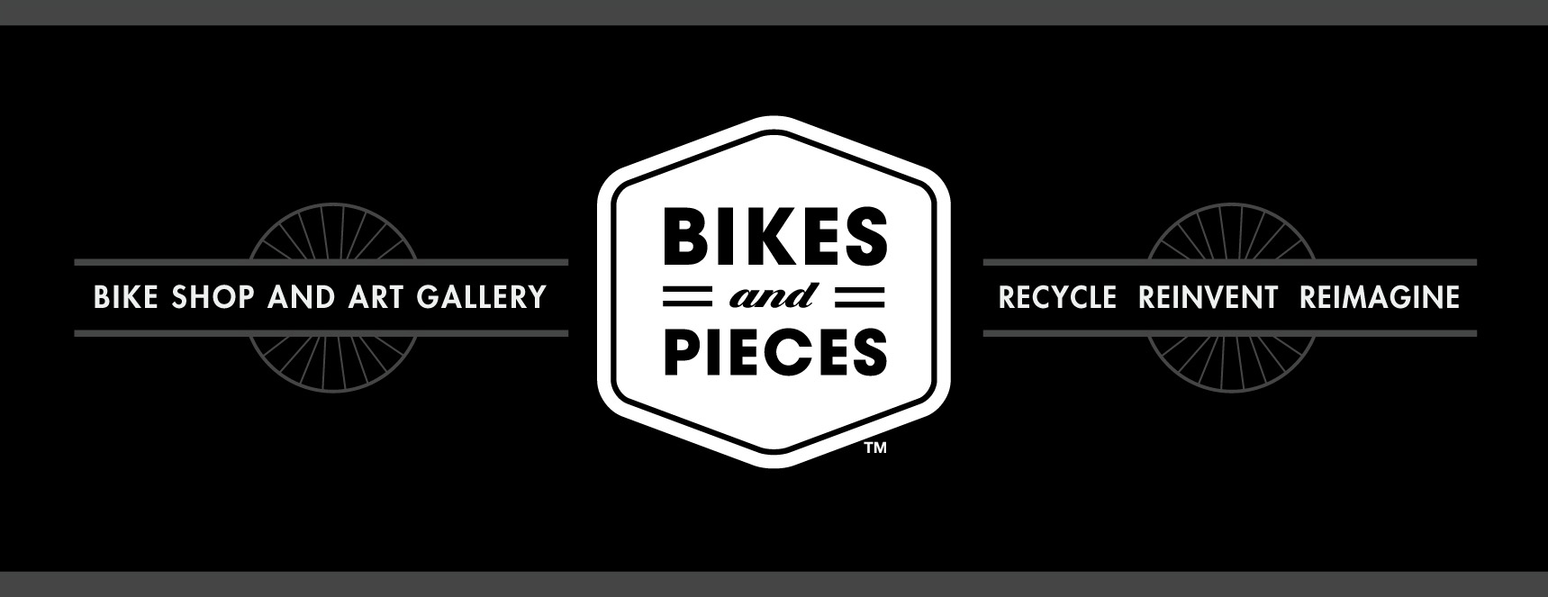 bikes and pieces shop logo and banner